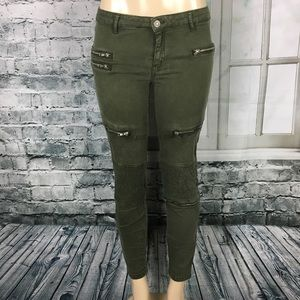 Zara Woman premium denim slim fit cargo pants 6